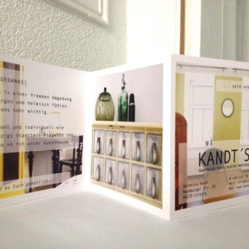 FLYER DESIGN - print - Kandts Guest House 2