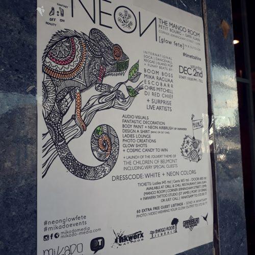Neon - Mango Room - San Juan - Poster